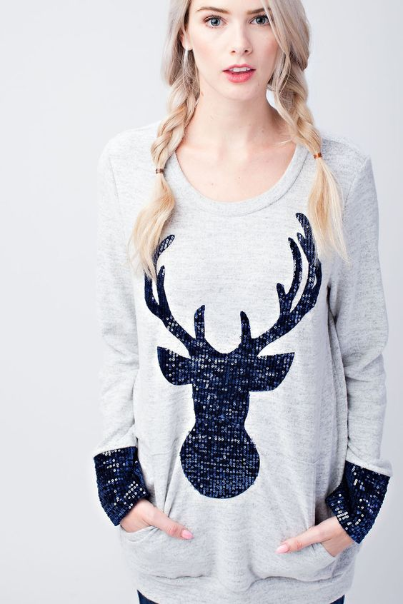 Glitter My Deer Top