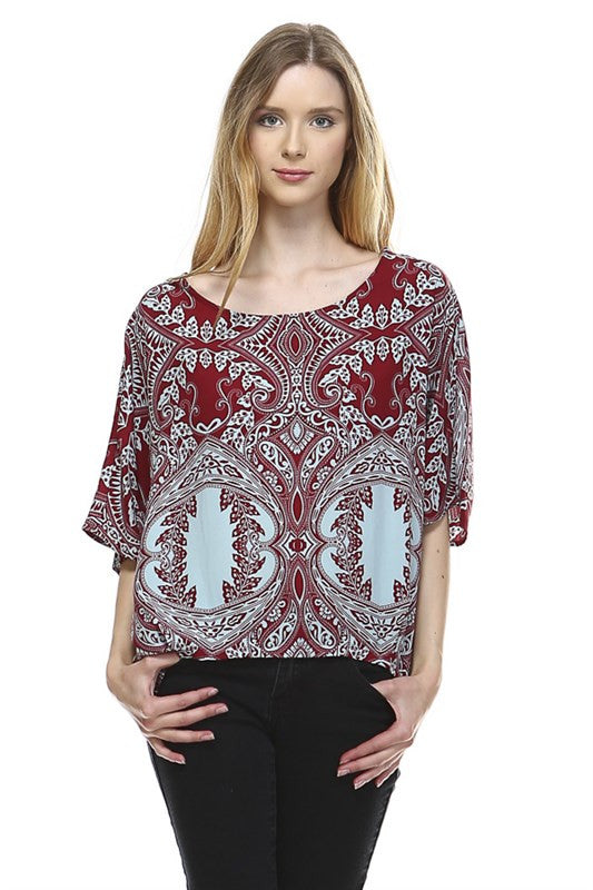 Boldly Baroque Top