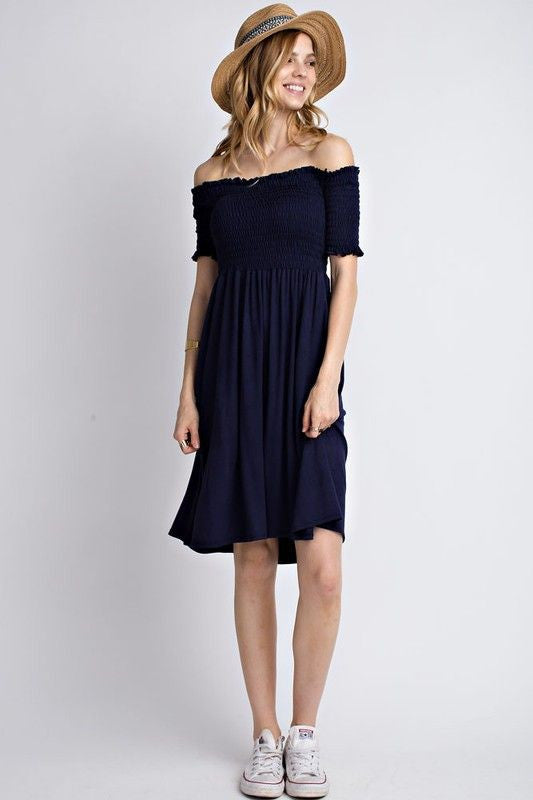 Take Me To The Beach Dress in Navy