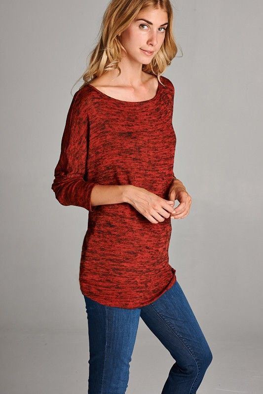 Autumn Dusk Top in Red