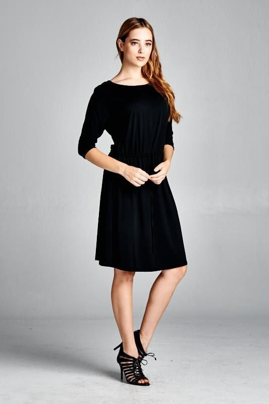 Cubicle Confessions Dress in Black