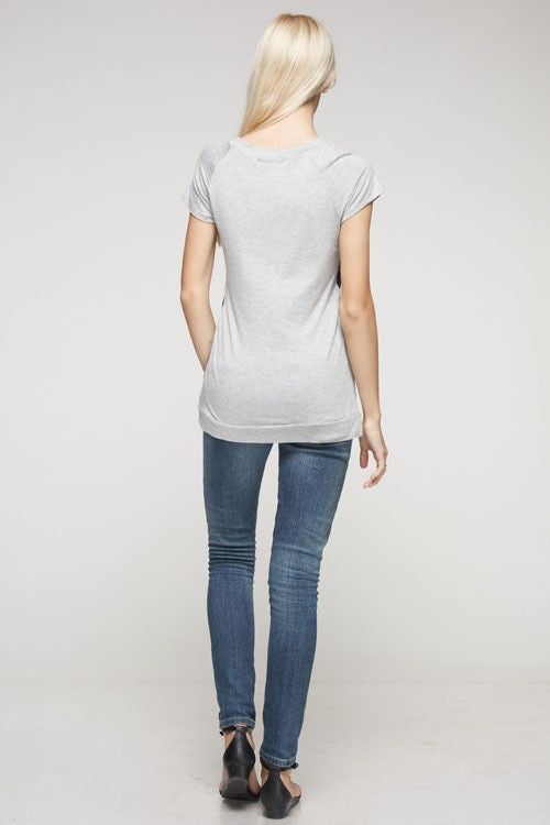 Elephant Walk Top in Grey