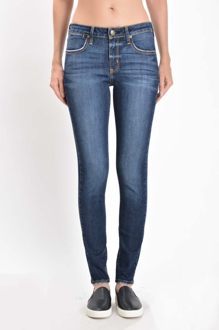 American Made Women's Skinny Jeans Dark Wash Front