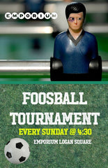 Emporium Chicago weekly foosball tournaments