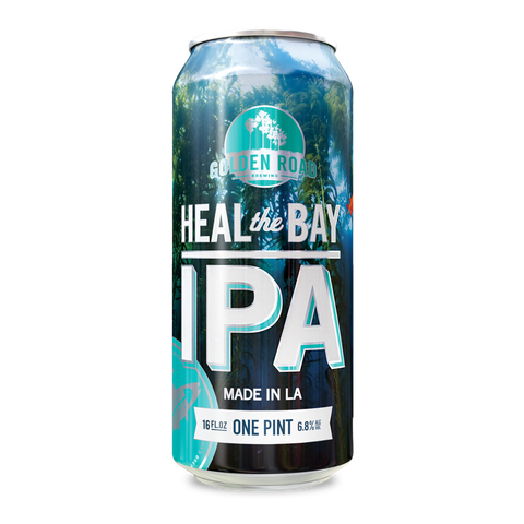 Golden Road heal the bay IPA beer for charity