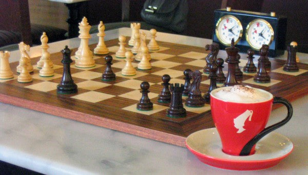 Julius Meinl play chess drink Viennese coffee