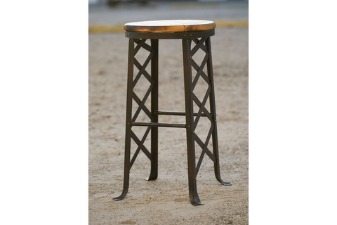 Iron Bridge Truss Stool