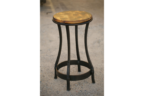 Hour Glass Stool in Forged Black iron