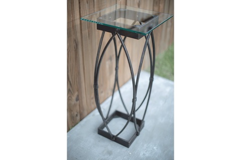 Gothic Industrial Iron Pedestal Table
