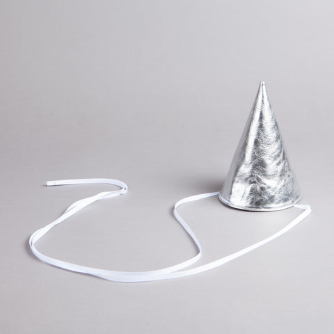 OTAAT Leather Party Hat Silver