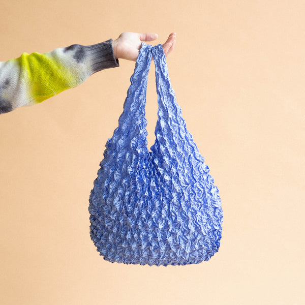 Crinkle Shopper Bag - Blue