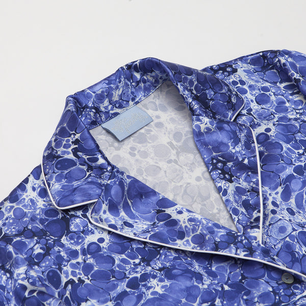 FINAL SALE - Lazuli Silk Pyjama Shirt