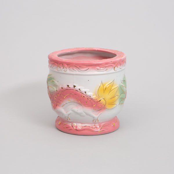 Large Powder Pink Dragon Pot
