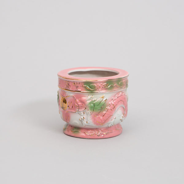 Small Powder Pink Dragon Pot