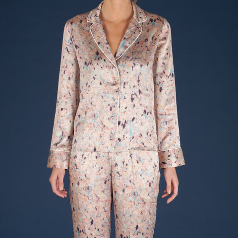 30% OFF - Faded Silk Pyjama Shirt