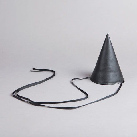 OTAAT Leather Party Hat Black