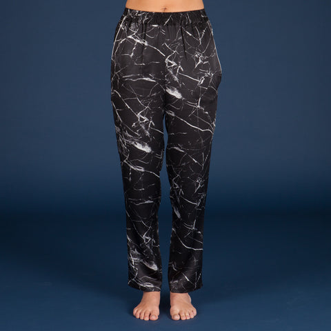 Tombstone Black Silk Pyjama Pants