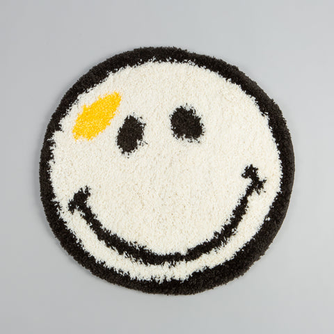 Smiley Rug Deadstock White