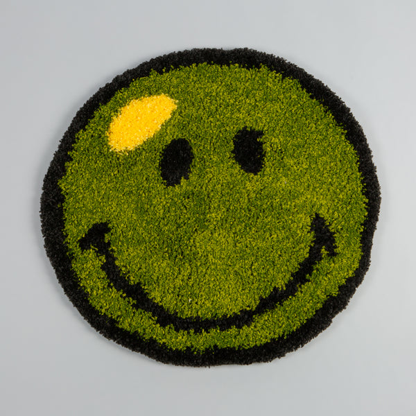 Smiley Rug Deadstock Green