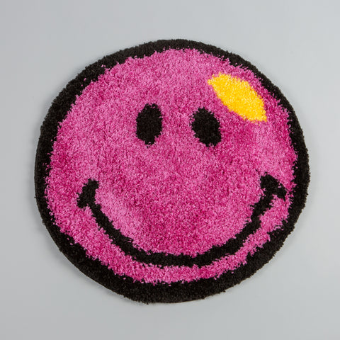 Smiley Rug Deadstock Pink