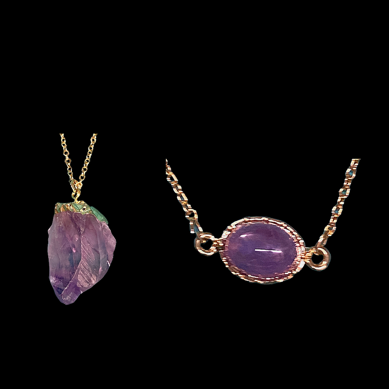 Amethyst Layers Necklace