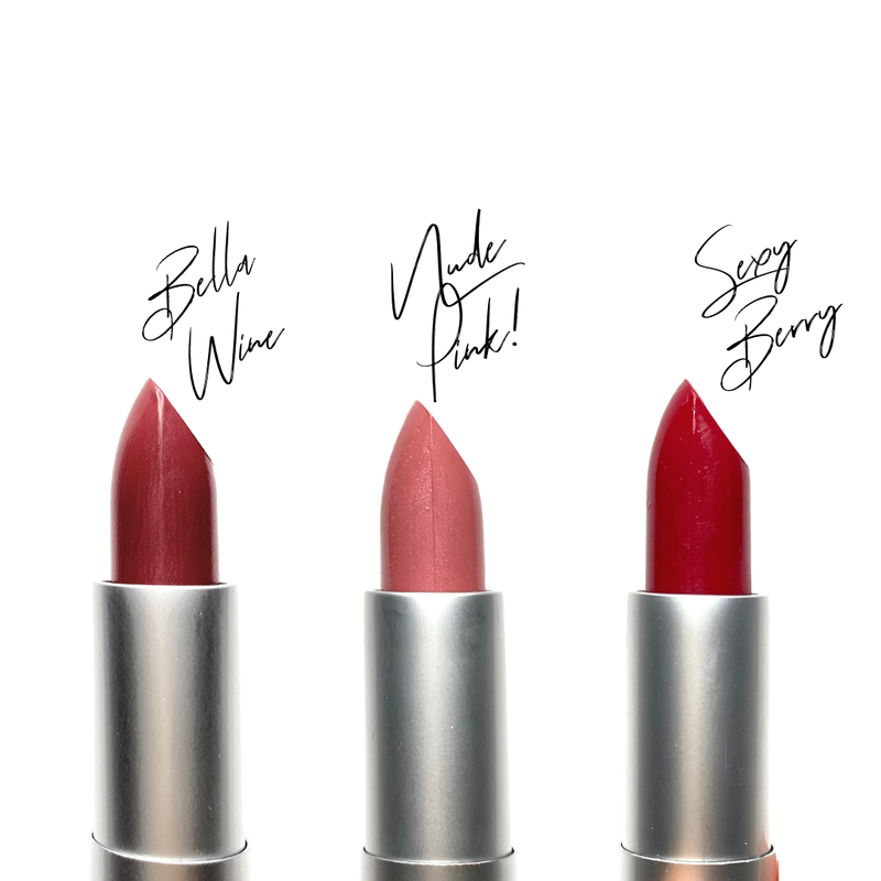 Vegan Luxurious Lipstick (Sexy Nude Pink Color)