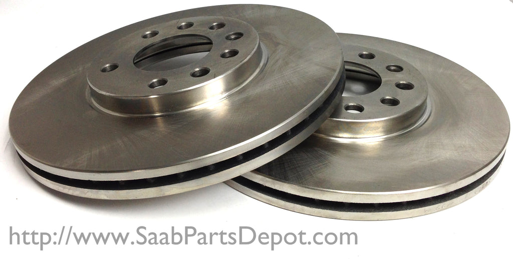 Genuine Saab Rotor Pair (32025723) - FRONT - 900 9-3 9-5 - Saab Parts Depot