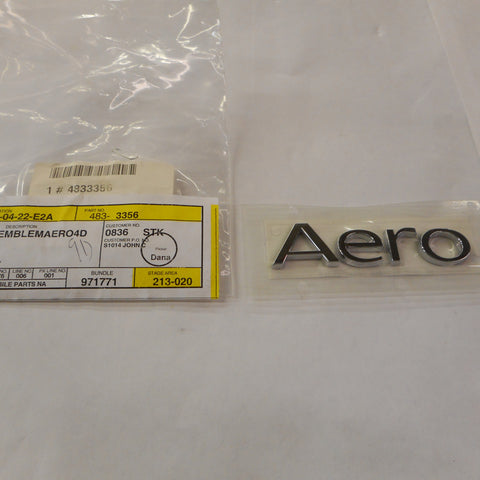 """Aero"" Emblem for 2002-2009  Saab ""95"" Sedan Only. P/N 4833356. - Saab Parts Depot"