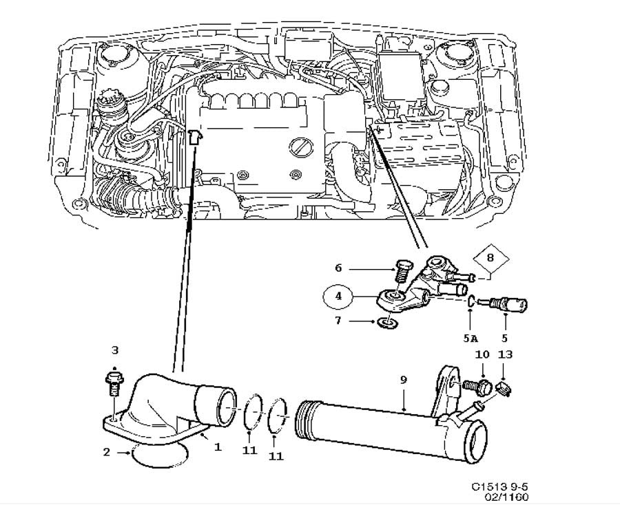 Thermostat (90502201) - 9-5 V6 B308 Engine