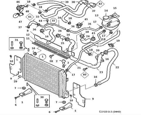 saab 9 3 cooling diagram | wiring diagram and schematics saab 9 3 radiator fan wiring schematics 2004 saab 9 3 convertible radio wiring #10