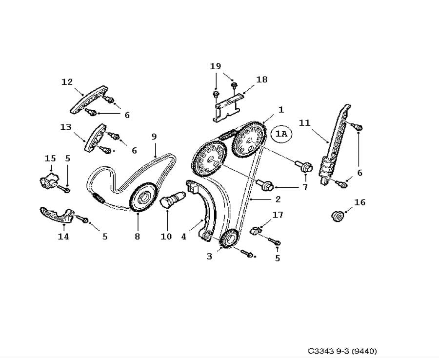 **FREE GROUND SHIPPING** Saab OEM Timing Chain Kit