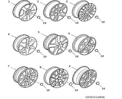 Light alloy wheel (12785710) - 9-3 - Saab Parts Depot