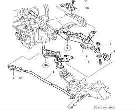 **FREE GROUND SHIPPING** Genuine Saab M/Trans Linkage.(9-5 1999-2003 )[5164108]
