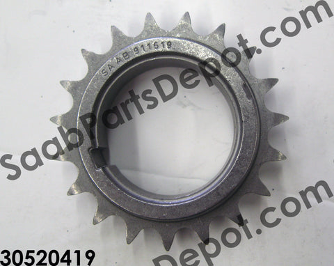 Lower Timing Chain Sprocket (30520419) - Saab Parts Depot  - 1