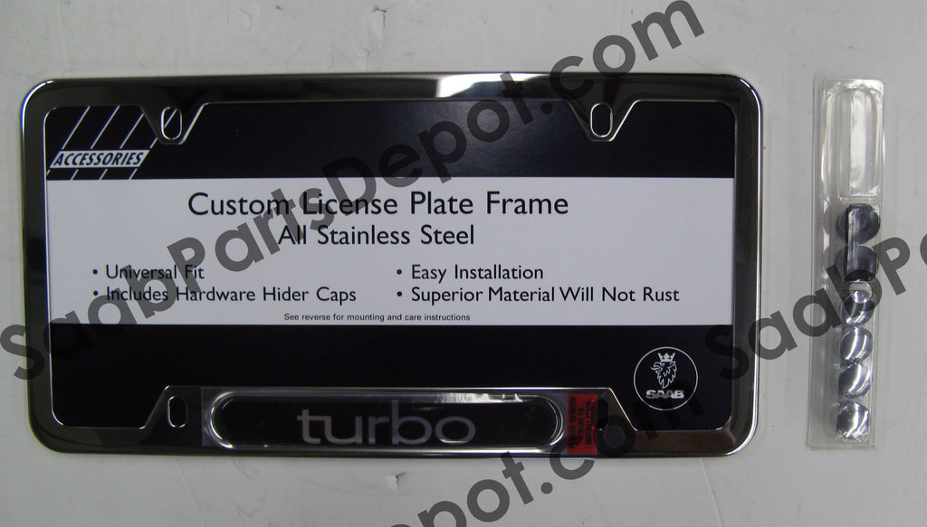 License Plate Frame - Chrome (0274203) - Saab Parts Depot  - 1