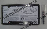 License Plate Frame - Chrome (0274203) - Saab Parts Depot  - 3