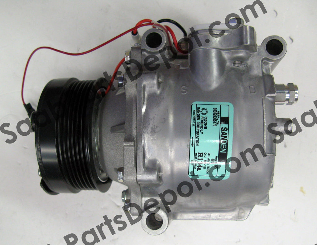 New A/C Compressor - Sanden Oem  65646002036 (4635892) - 9-3 - Saab Parts Depot  - 1