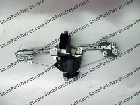 Window Regulator - Rear Passenger Side (w/ Motor) (5184908) - Saab Parts Depot  - 1
