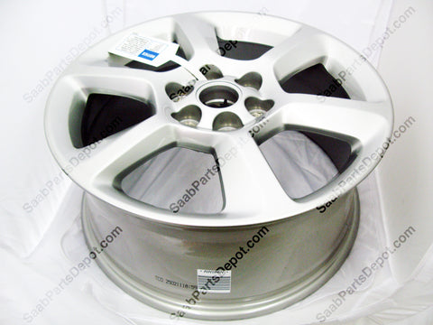 New Set of 4 Saab Alloy Wheel 94X - (09597411) Sterling Silver Finish. - Saab Parts Depot  - 1