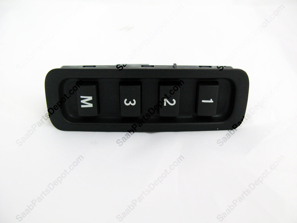 Side Seat Memory Switch w/ Electric Seats (LEFT) (12791026) - 9-3 Sedan, 9-3 Convertible - Saab Parts Depot  - 1