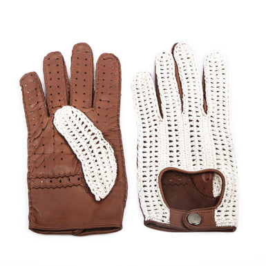 David - Men's Driving Glove Crochet