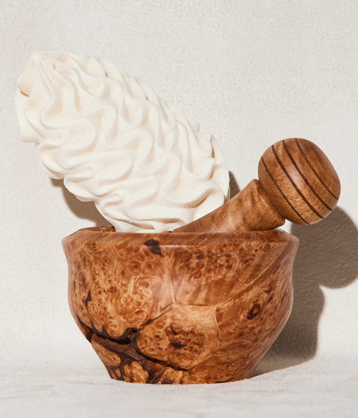 Wooden Mortar + Pestle
