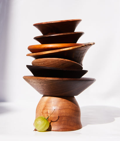 Wooden Salt Bowl