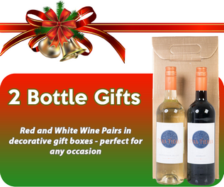 Christmas Wine Gifts, Two Bottle
