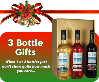 Christmas Wine Gifts, Three Bottle