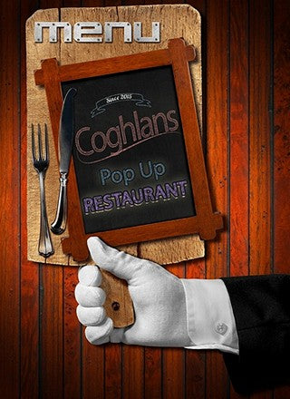 Fine Dining in Chesterfield at Coghlans Pop up Restaurant