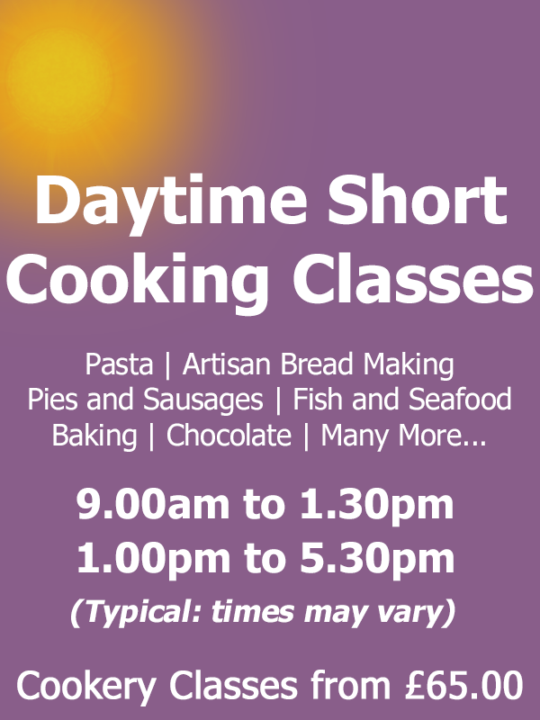 Daytime Short Cookery Classes