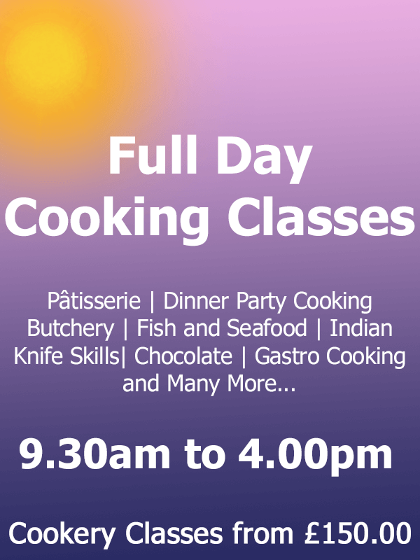 Full Day Cookery Classes