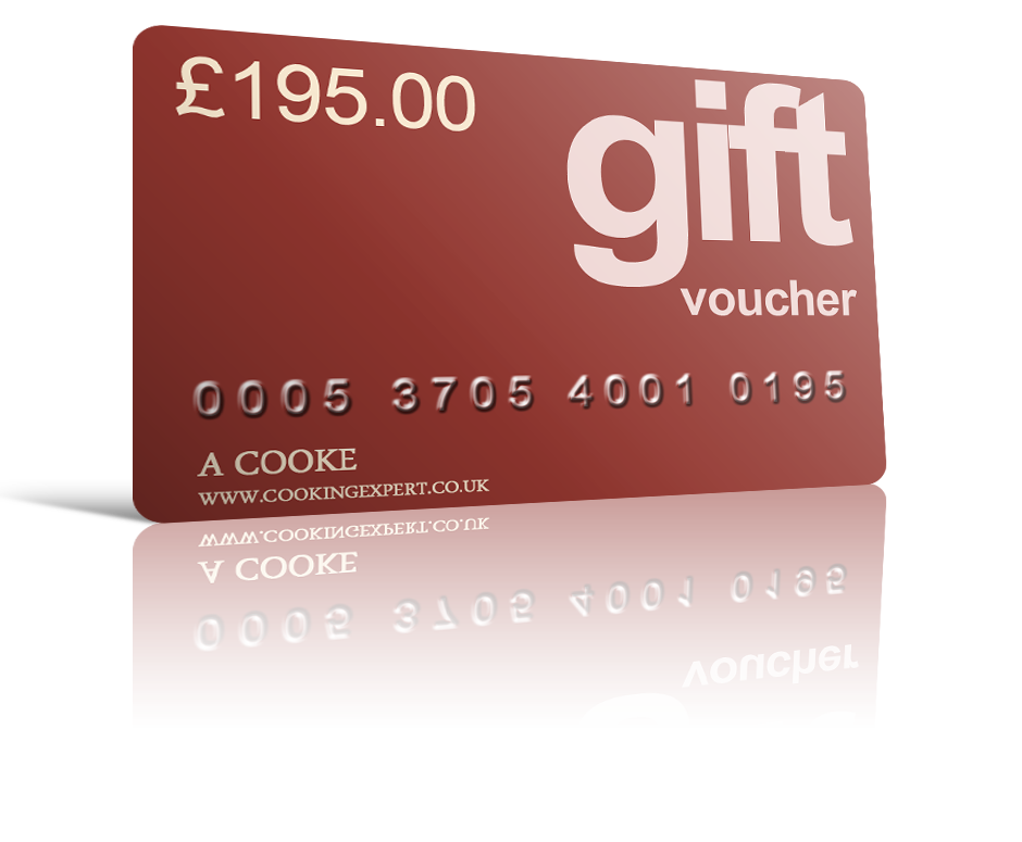 £195.00 Gift Voucher From Coghlans Cookery School