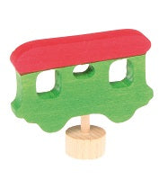 Green Wagon Deco Figure
